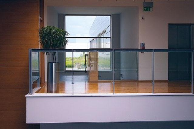 Modern Office Glass Half Wall